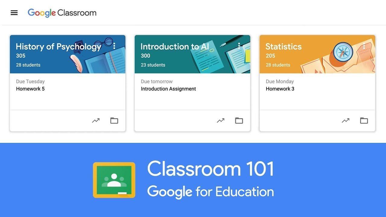 Classroom 101   YouTube   Google classroom, Google ...