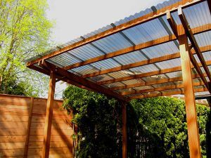 Corrugated Plastic Roof For Porch And Deck: Free Standing Shelter