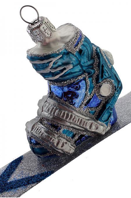 Christbaumschmuck aus Glas Ski-Schuh #weihnachtsdekoimglasmitkugeln
