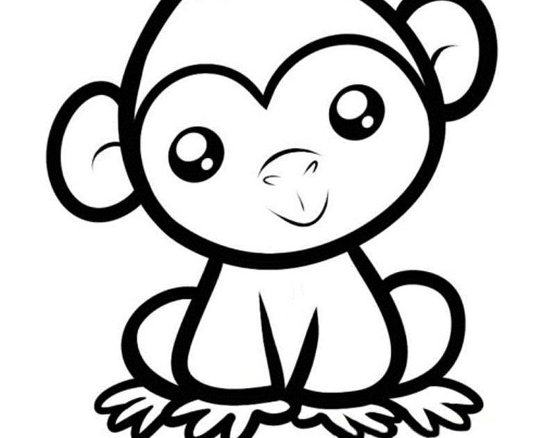 20 Gambar Kartun Monyet Hitam Putih Di 2020 Dengan Gambar