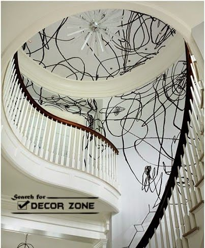 Creative Staircase Wall Decor Ideas With Paint And Wallpaper