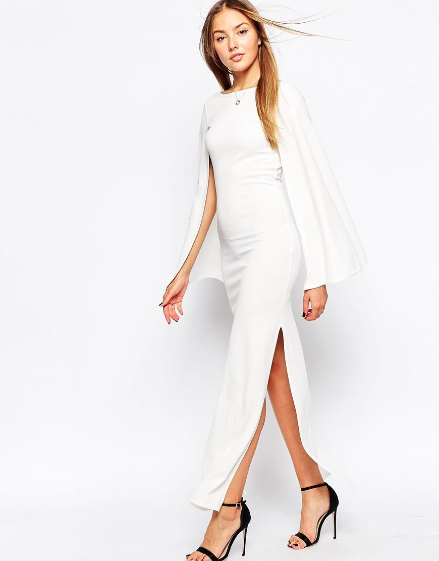 Club l maxi dress with long fluted sleeves pernas pinterest