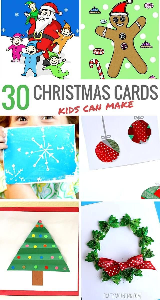 30 Christmas cards for kids to make | December Idea\'s for Christmas ...