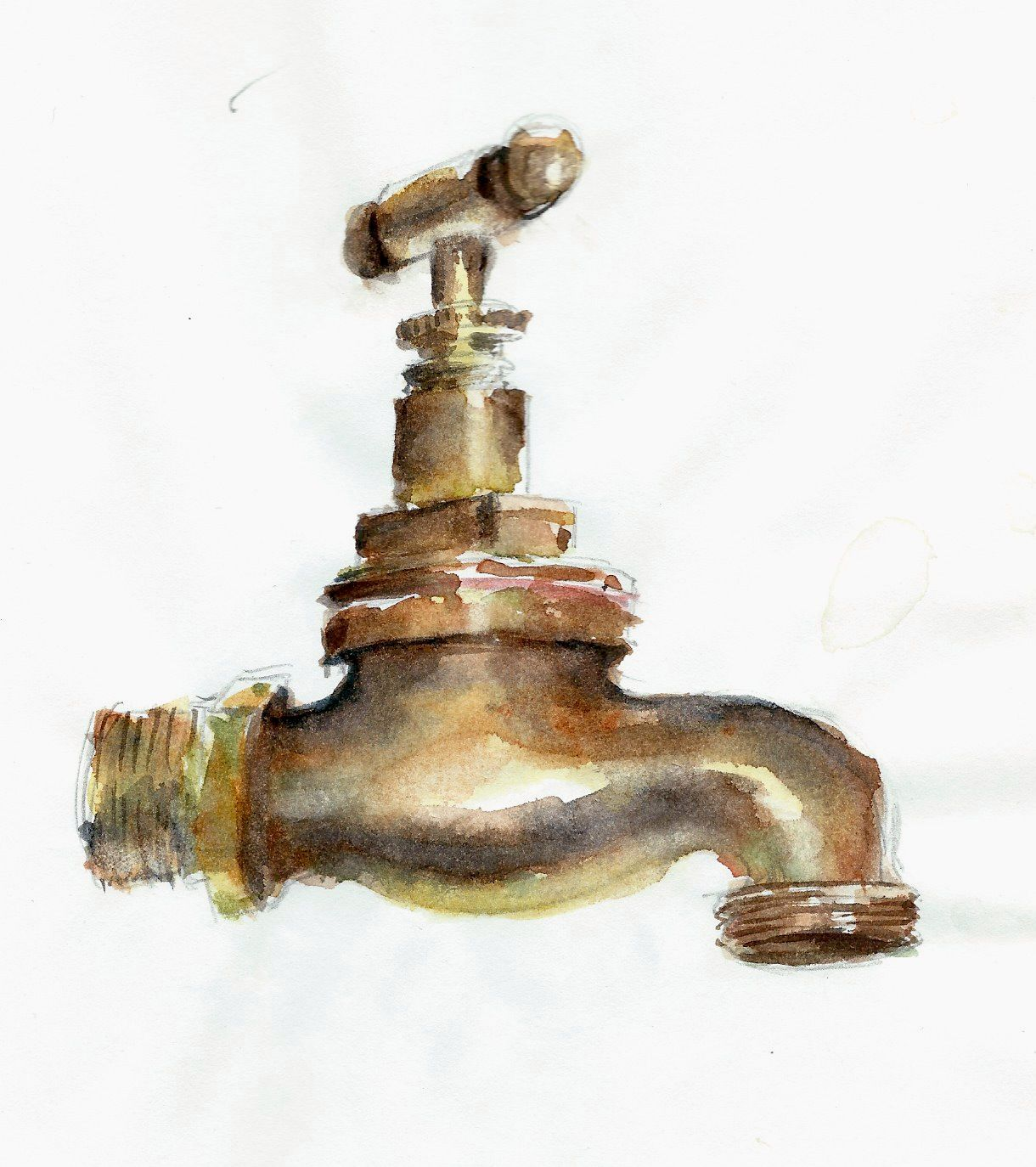 This Is A Painting I Did Of One Of Our Old Garden Taps I Love