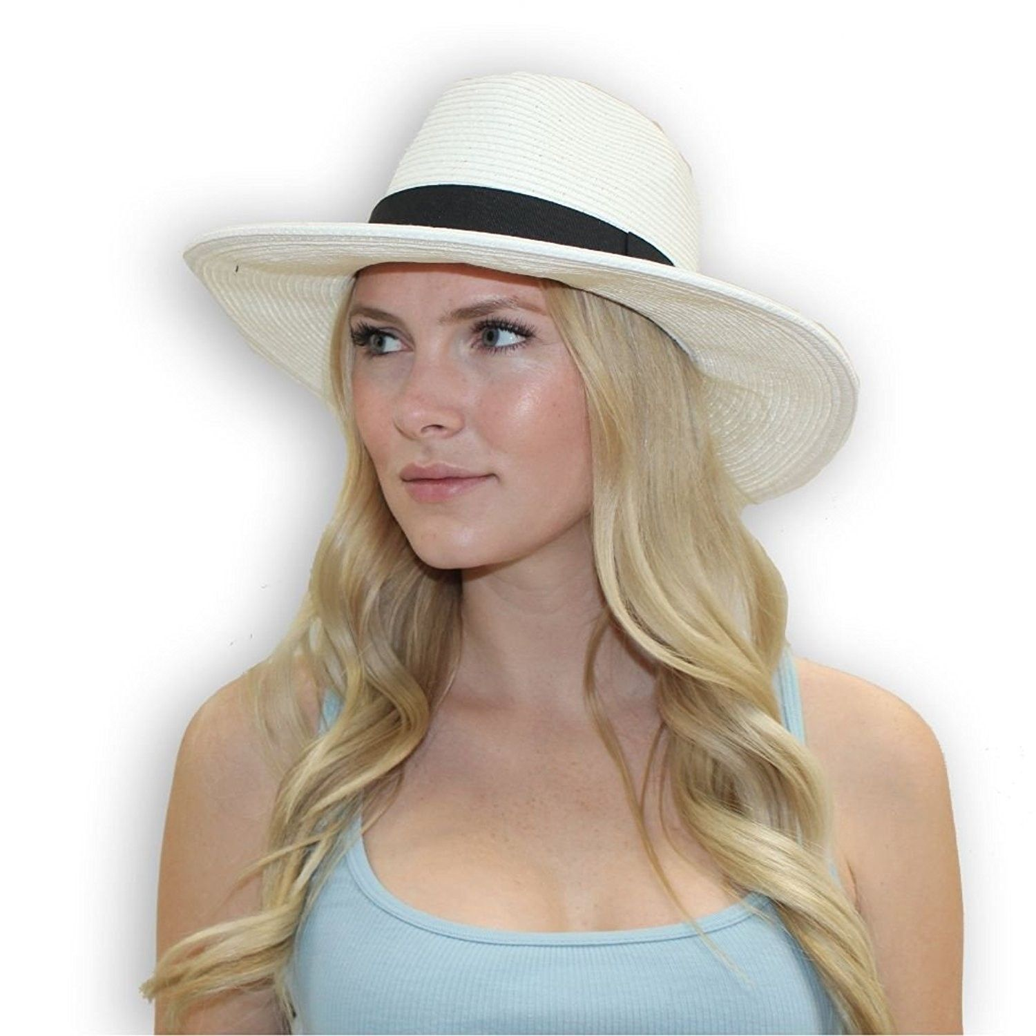 Stevie Fedora Women s Fashion Derby Hat (Large (Fits up To 23