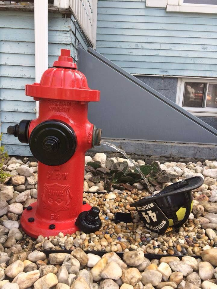 Fire hydrant water fountain! Way cool  Fire hydrant, Firefighter
