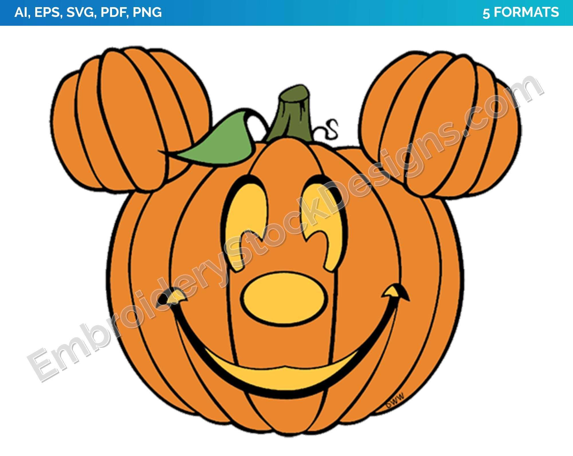 Hand painted Mickey mouse head pumpkin