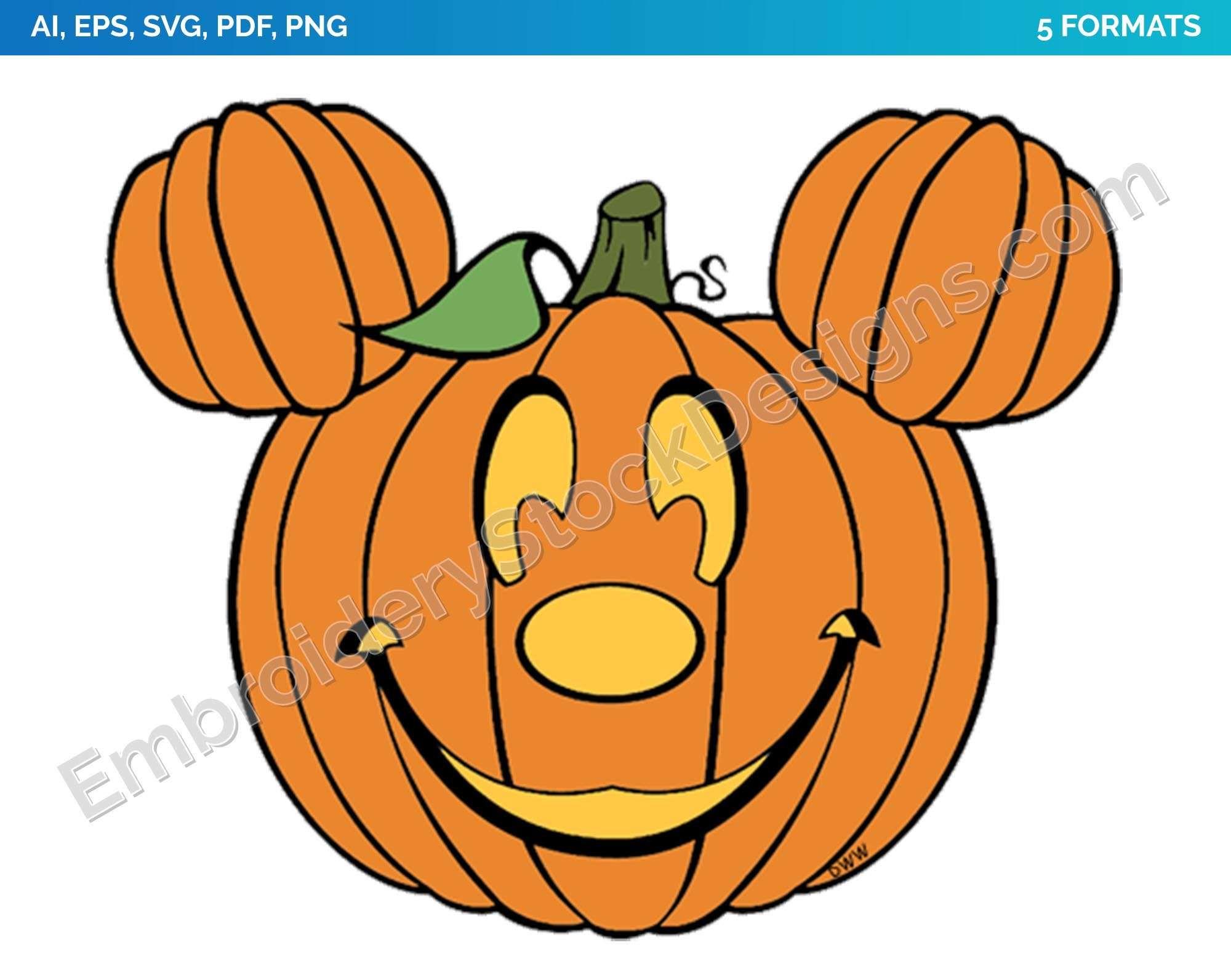 Mickey Mouse Pumpkin Halloween Holiday Disney
