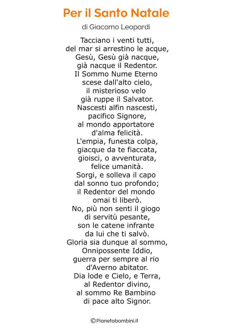 Poesia Di Natale Per Bambini 2 Anni.Poesia Di Natale Autori Classici 04 Natale Poesia Brevi Poesie