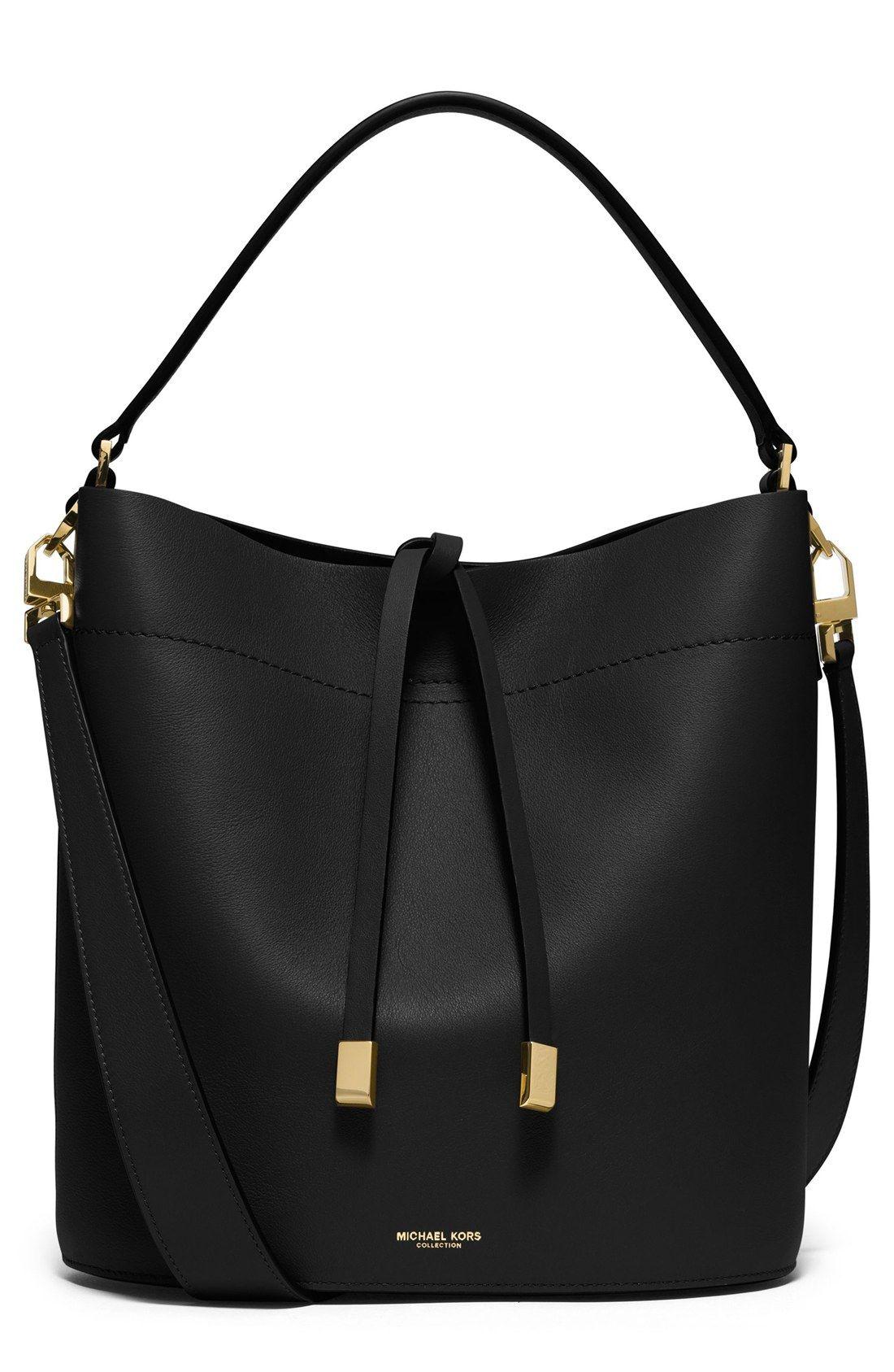 f17d9bacab70 Michael Kors  Medium Miranda  Leather Bucket Bag