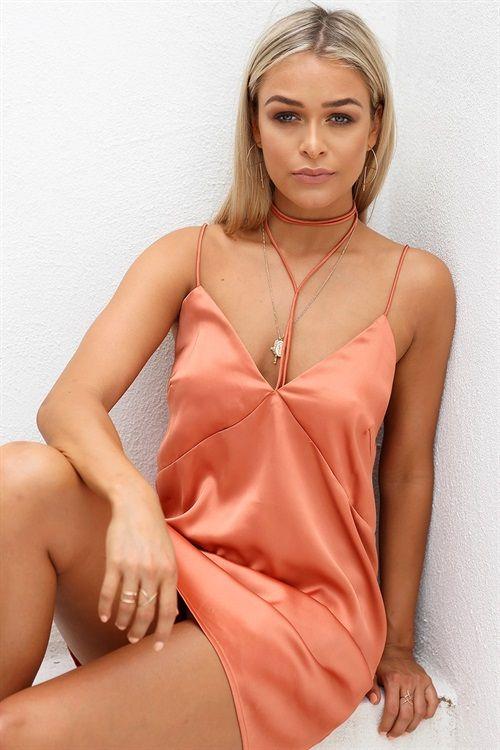 9008a2165e40 Rust Slip Dress - Dresses by Sabo Skirt | SABO SKIRT | Dresses ...