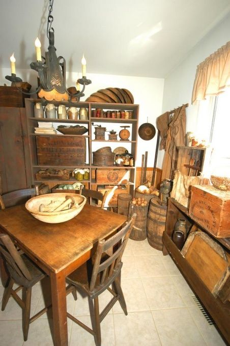 Image detail for -Primitive Kitchen, Early 1800's Primitive Kitchen., Kitchens Design