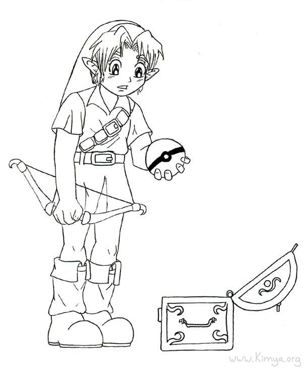 zelda coloring pages - Zelda Coloring Pages