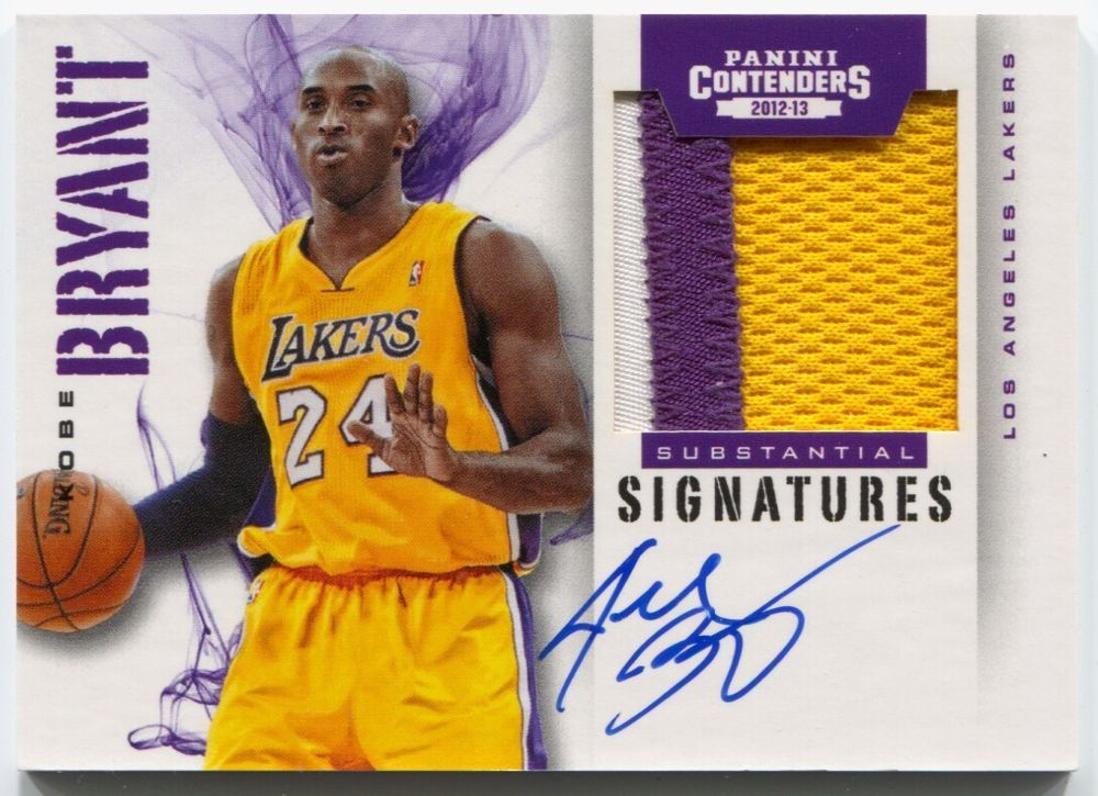 1677cefc4d5 12-13 Panini Contenders Kobe Bryant Substantial Prime 3 Color Patch Auto    5. Find this Pin and more on NBA Trading Cards ...