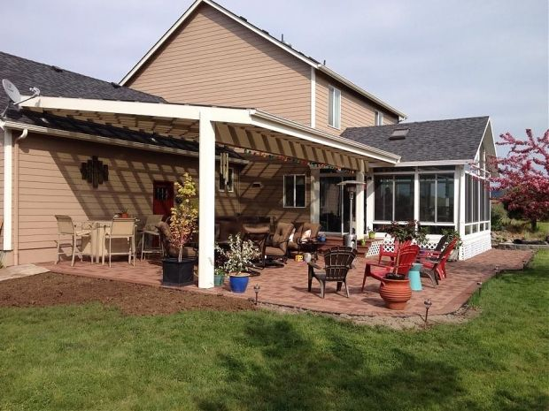 Suntuf Patio Cover With Azek Pavers Corvallis Tnt Builders