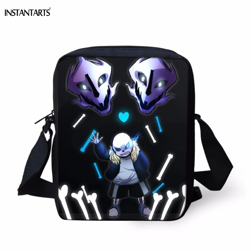 e865033cfd INSTANTARTS Funny Preschool Students Mini School Bags 3D Cartoon Undertale  Sans Print Boys Girls Bookbags Children