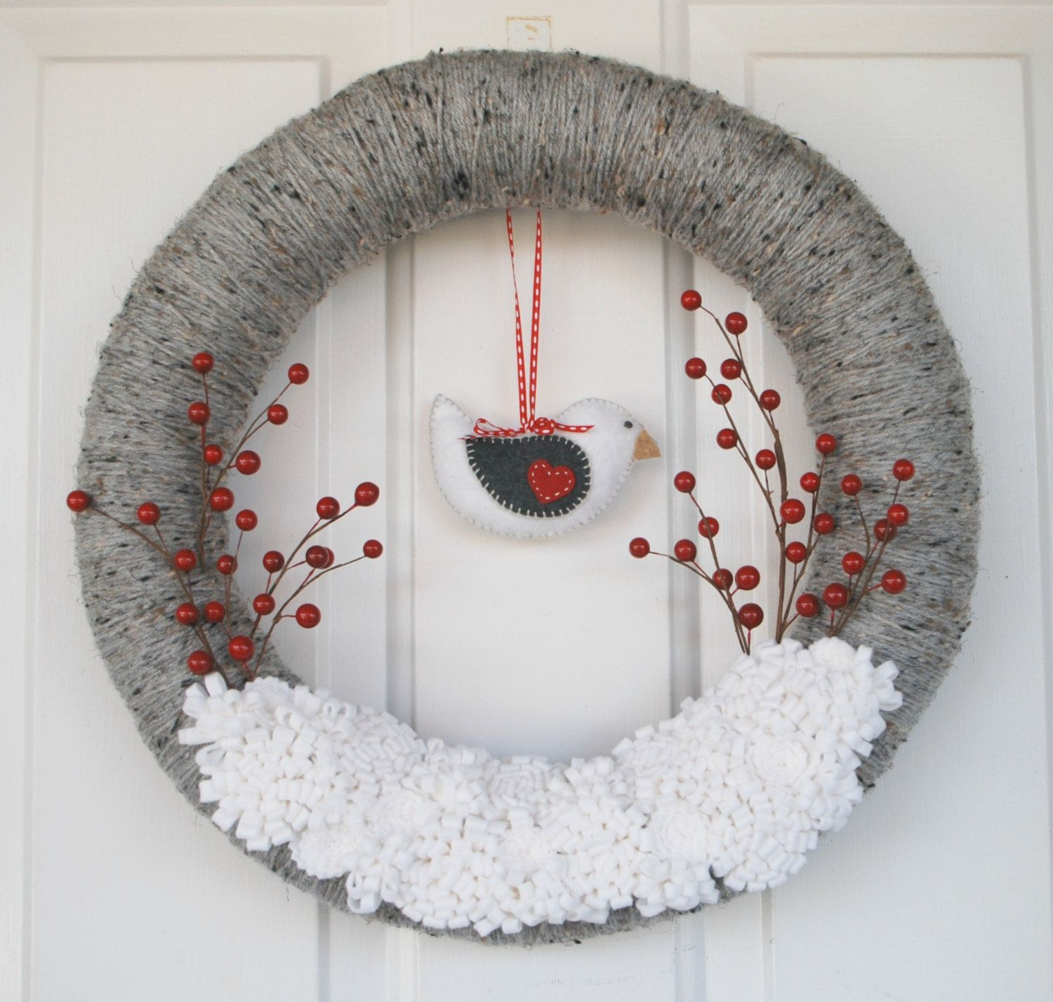 Photo of 18 Chilly Handmade Winter Wreath Designs For Your Front Door