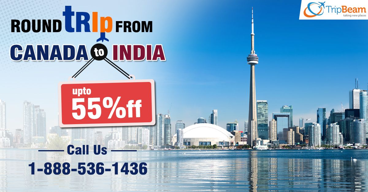 Unbeatable discounts on a roundtrip from Canada to India