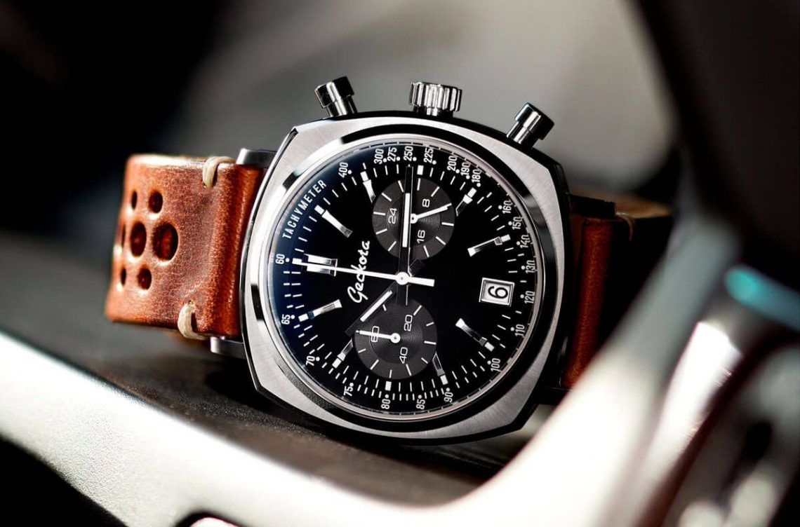 geckota racing chronograph montres chic pour homme. Black Bedroom Furniture Sets. Home Design Ideas