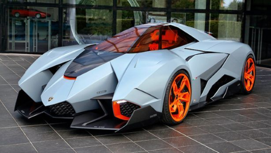 Lamborghini Egoista:  Bonkers one-off 600bhp single-seater concept is on permanent display in Lambos museum #conceptcars #concept #cars #display