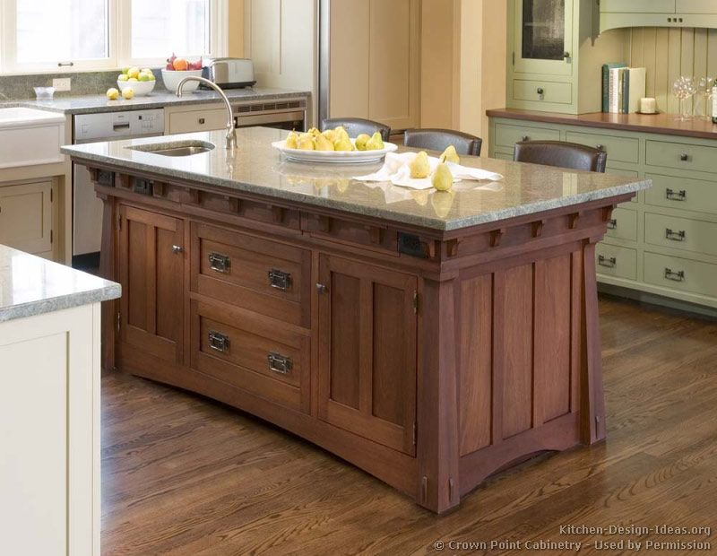 Arts And Crafts Style Custom Cabinets Made By Crown Point Cabinetry Shown  In Different Homes