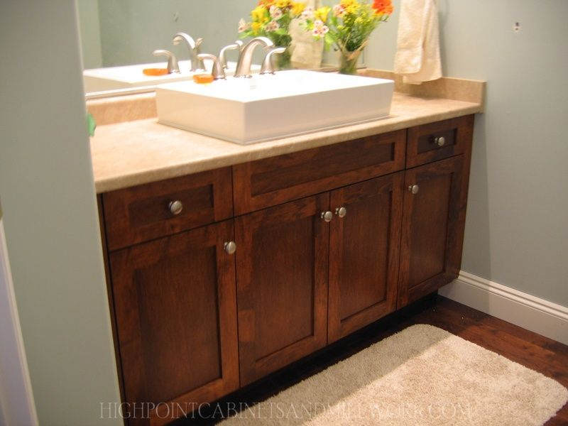 Maple Shaker Bathroom Vanity (With images) | Diy bathroom ... on Bathroom Ideas With Maple Cabinets  id=92096