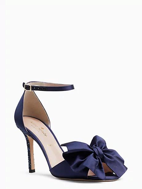 navy designer heels