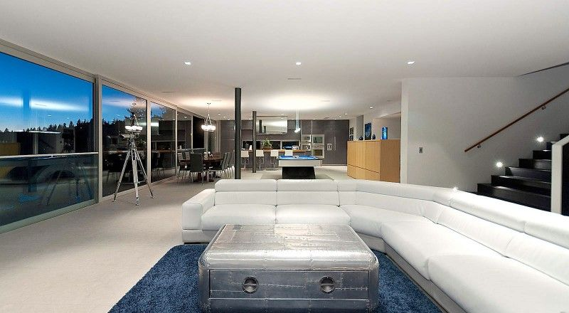 Calm And Cool Contemporary Residence In West Vancouver Bachelor Pad Residences Home