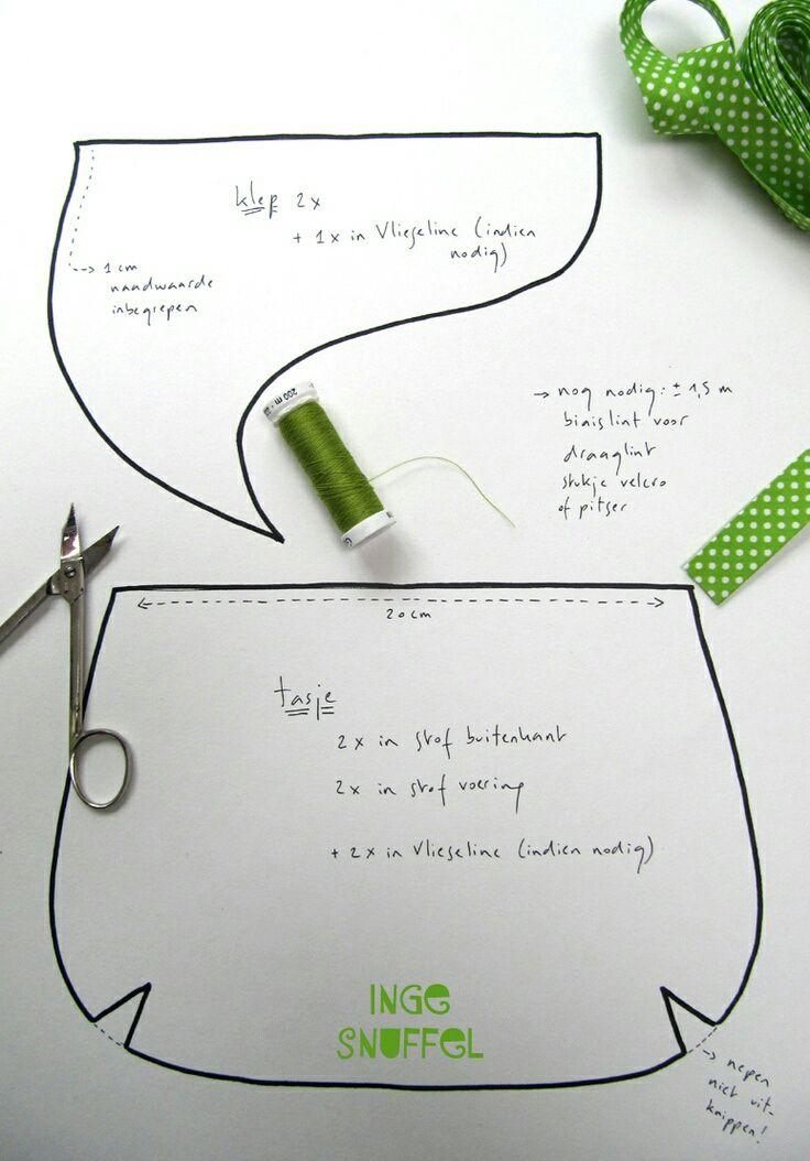 Patron Bolso de Tela – Patrones bolsos costura – Moldes bolsos de ...