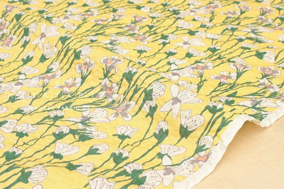 50f169678d7 Japanese Fabric Seersucker Violets - yellow - 50cm | clothes for ...