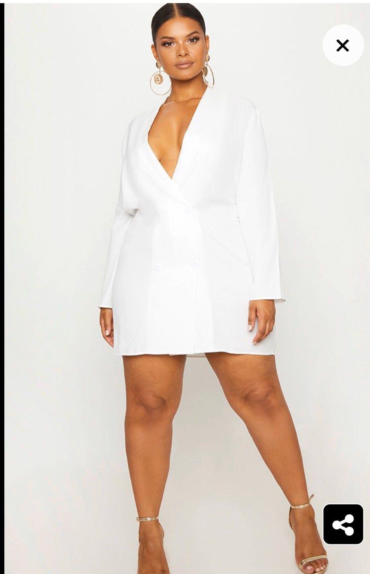 Plus White Oversized Blazer Dress Bachelorette Outfits Blazer Dress Oversized Blazer Dress [ 1860 x 1200 Pixel ]