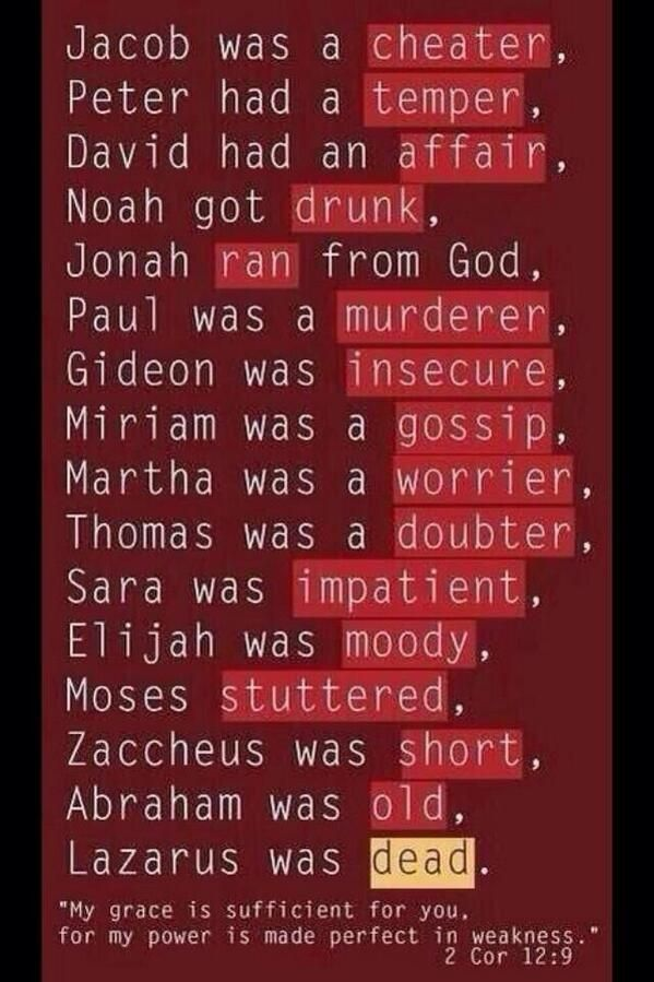 It's odd that I never think of these heroes of faith as flawed like this. This is a good reminder.