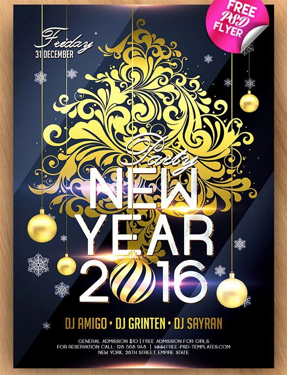 New Years Flyer Template Free Best Of 28 New Year