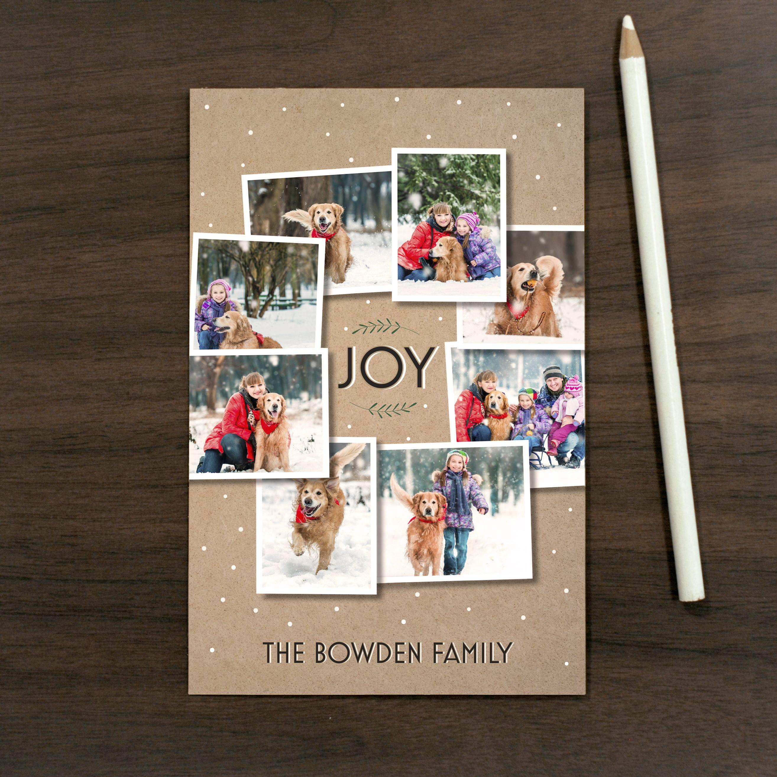 Multi-Photo Wreath Holiday Card | Vistaprint | Holiday Trend: Multi ...