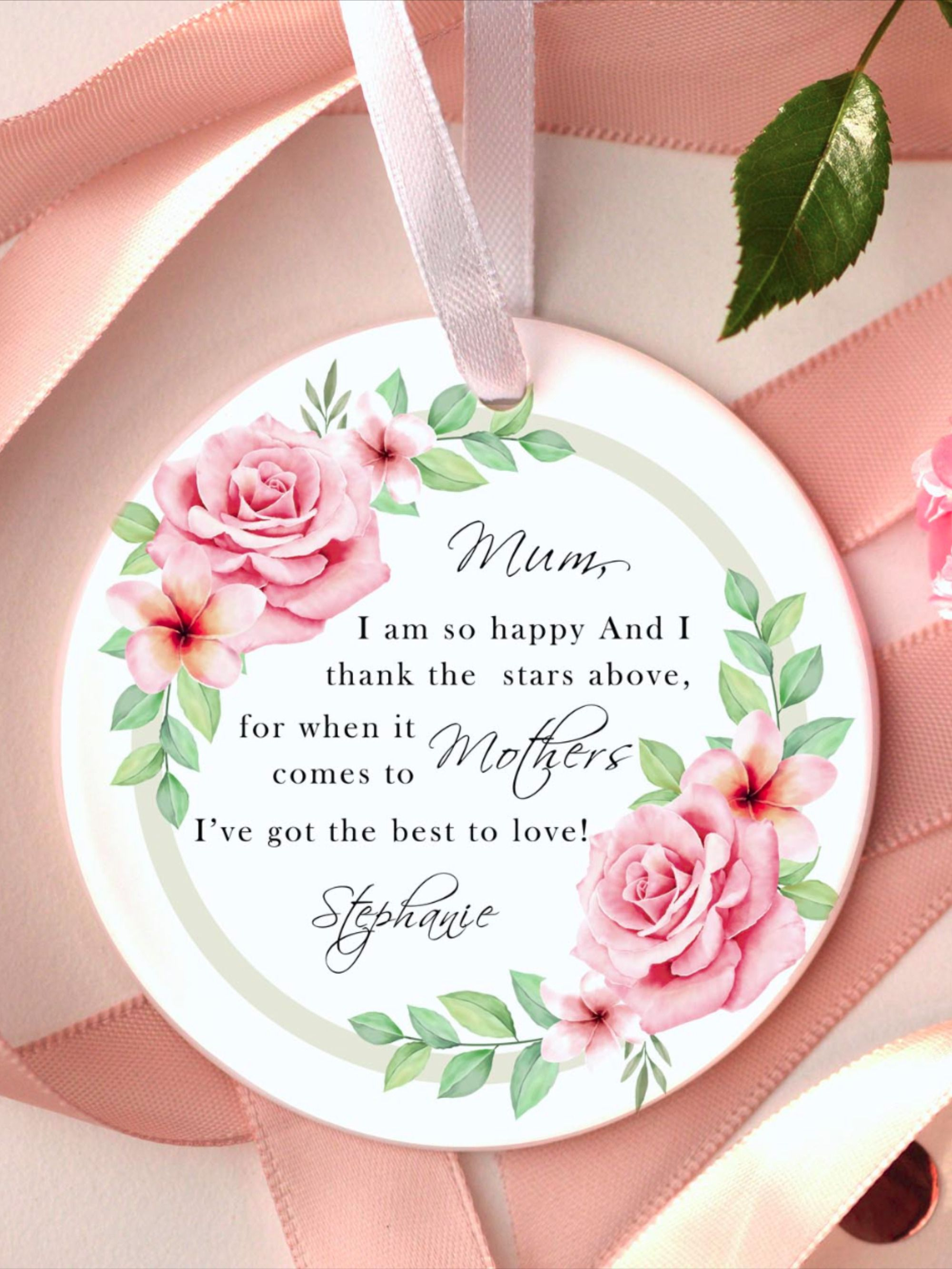 Happy Mothers Day From Daughter Personalized Mothers Day Gift From Son Happy Birthday Mom Gifts For Mom From Daughter Mom Birthday In 2020 Happy Mothers Day Mother Day Gifts Mothers Day Special