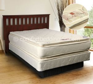 Comfort Bedding Coil Pillow Top Plush Double Sided Queen Mattress