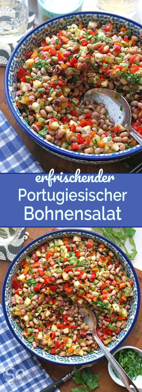 Photo of Portuguese bean salad with bell pepper and apple – just the way you like it