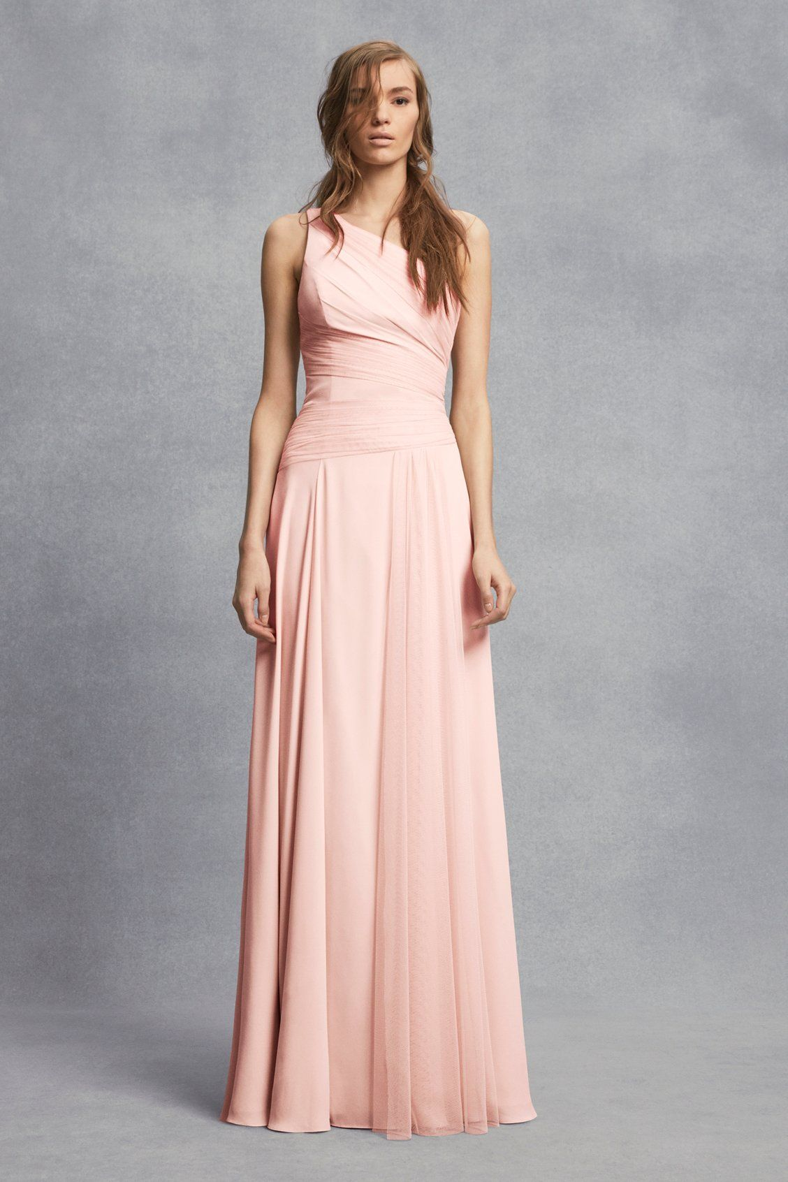 Vera wang pink wedding dress  This soft pink dress adds a romantic touch to your wedding Sheer