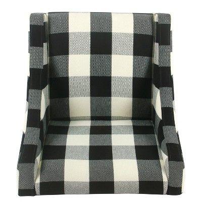 Best Modern Swoop Accent Chair Black Plaid Homepop *D*Lt 400 x 300
