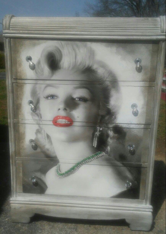 Marilyn Monroe distressed waterfall chest. Custom designed ...