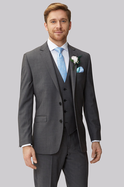 charcoal grey suit wedding