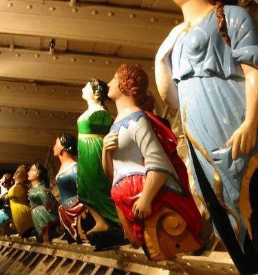 Ship figureheads at the Cutty Sark Maritime Museum, Greenwich, London