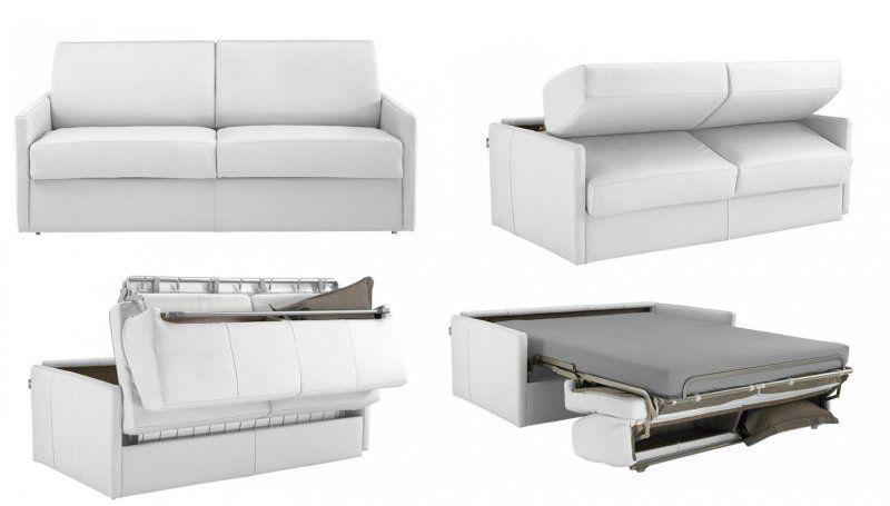 magnifique canapé convertible 2 places cuir | décoration française