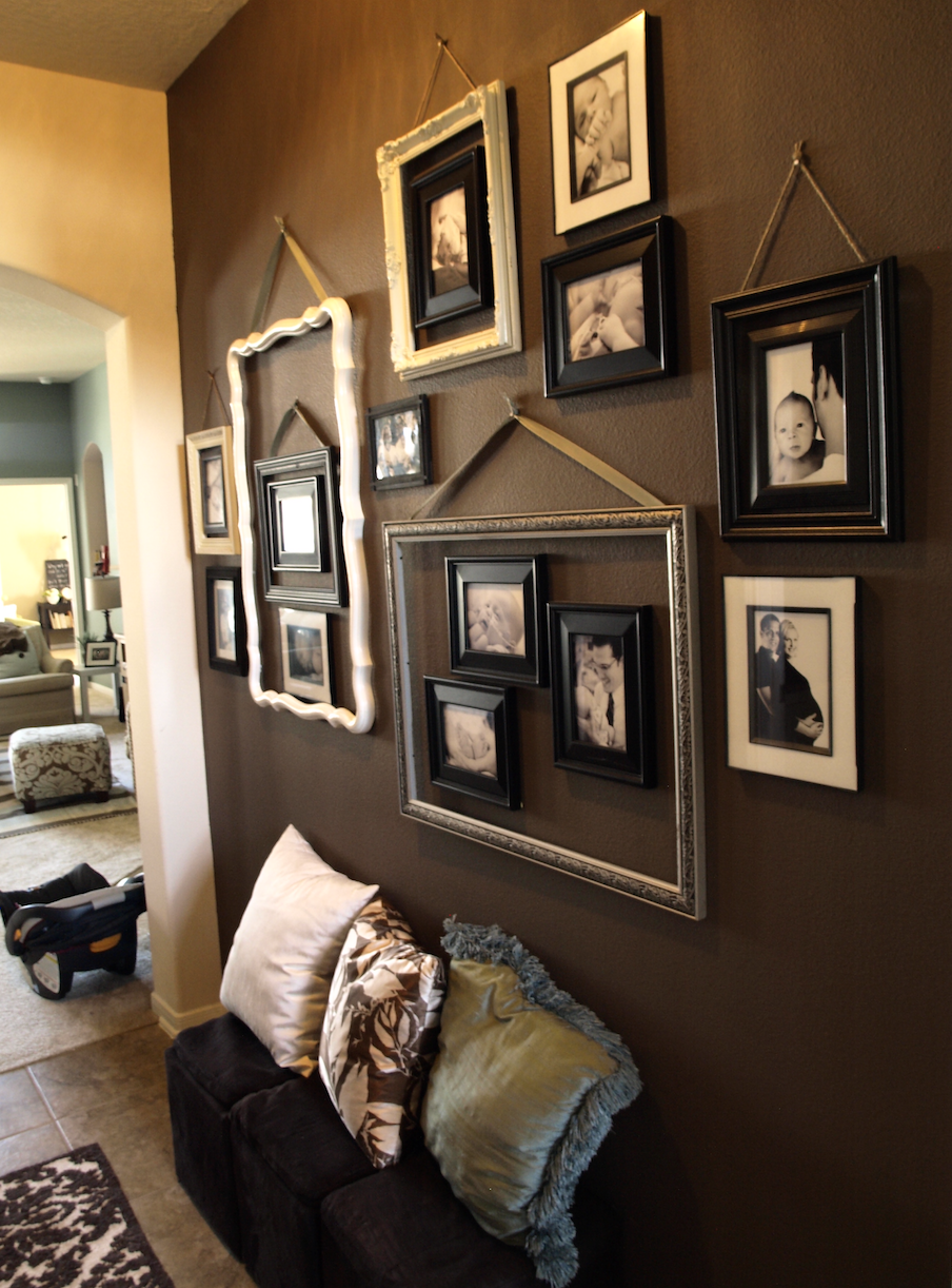 A great way to make a photo collage just that much more for Great room wall ideas