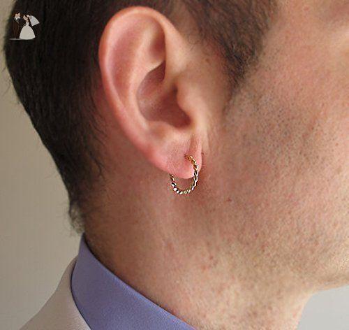 Men S Twist Earrings Gold Hoop For Gypsy Uni