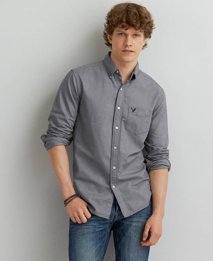 f09973f3a0dc AE Long Sleeve Oxford Button Down Shirt in 2019 | *Clothing ...