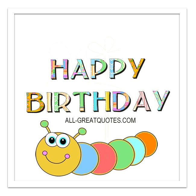 Happy Birthday Free Birthday Cards For Facebook Cute Worm Card For – Happy Birthday Cards for Facebook