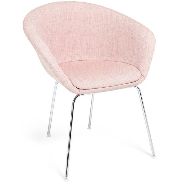Arper Pale Pink Duna Lounge Chair (u20ac775) ❤ Liked On Polyvore Featuring Home