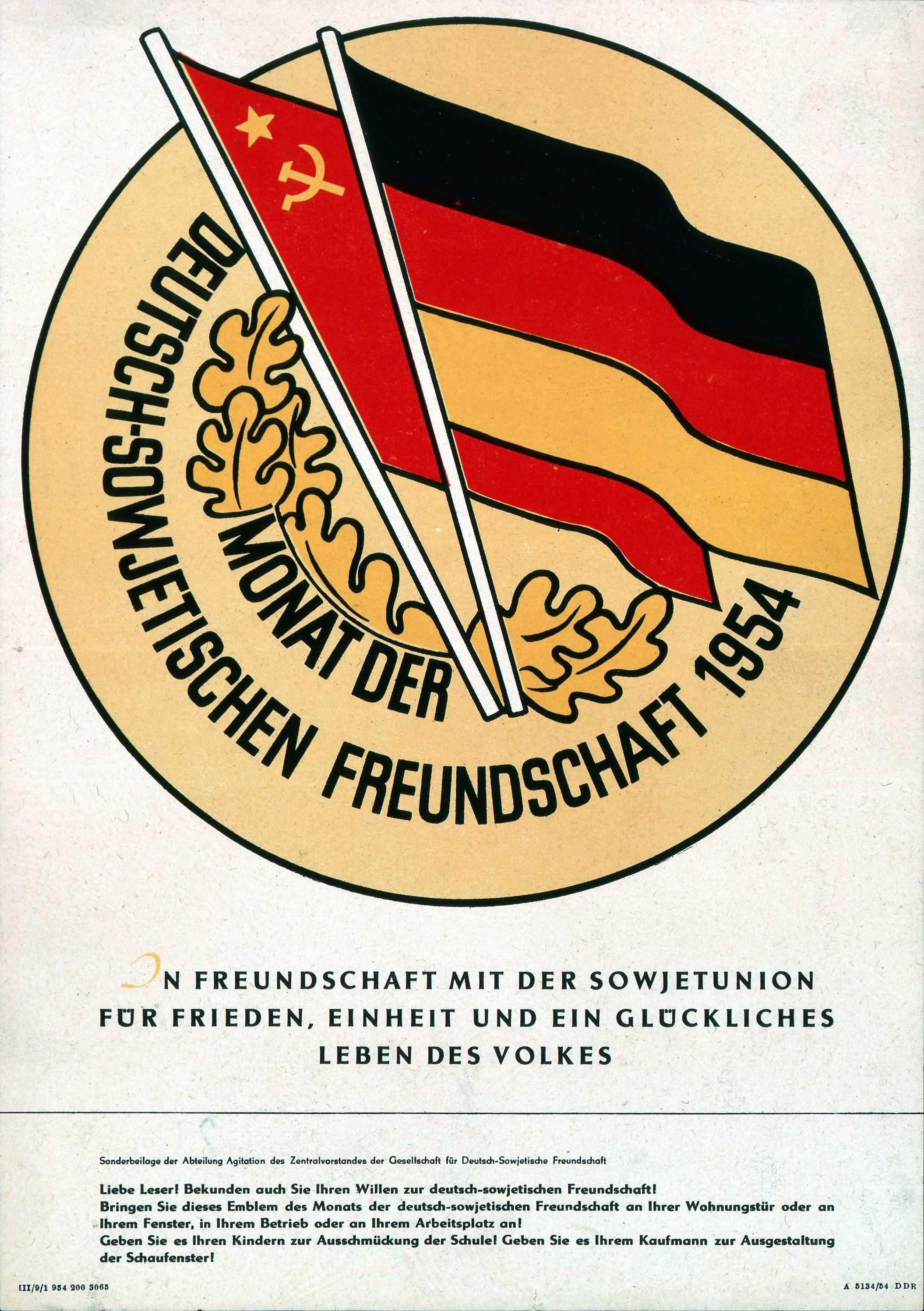 Monat der Deutsch Sowjetischen Freundschaft 1954