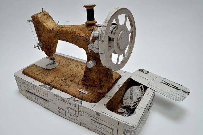 naaimachine van papier